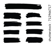 black vector brush strokes set... | Shutterstock .eps vector #712966717