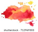 abstract red yellow colorful... | Shutterstock .eps vector #712969303