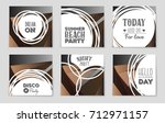 abstract vector layout... | Shutterstock .eps vector #712971157