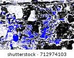 abstract grunge blue dark... | Shutterstock . vector #712974103