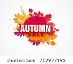 template design circle autumn... | Shutterstock .eps vector #712977193