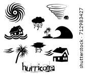hurricane natural disaster...   Shutterstock .eps vector #712983427
