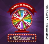 casino spinning luck wheel or... | Shutterstock .eps vector #712989403