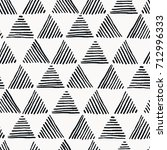 seamless hand drawn geometric...   Shutterstock .eps vector #712996333