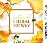 Natural Floral Honey Colorful...