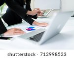 team of business discussion of... | Shutterstock . vector #712998523