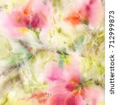 floral background. watercolor... | Shutterstock . vector #712999873