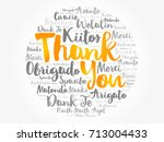 thank you word cloud in... | Shutterstock .eps vector #713004433