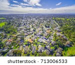 aerial panorama of town houses... | Shutterstock . vector #713006533