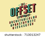 vector of retro bold font and... | Shutterstock .eps vector #713013247