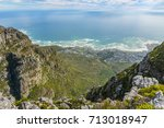 camps bay from top of table... | Shutterstock . vector #713018947