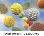 pollen grains from different...   Shutterstock . vector #713029957