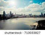 aerial view of shanghai skyline ...   Shutterstock . vector #713033827