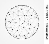 polygonal sphere. vector... | Shutterstock .eps vector #713038453