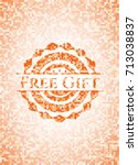 free gift abstract orange...