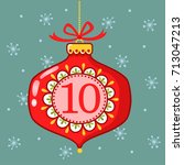 vector christmas advent... | Shutterstock .eps vector #713047213