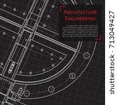 vector technical blueprint of... | Shutterstock .eps vector #713049427