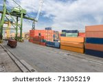 Busy Industrial Shipping Terminal in South America, Rio de Janeiro - stock photo