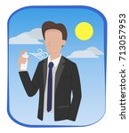 man in formal suit are spraying ... | Shutterstock .eps vector #713057953