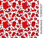 cute seamless pattern of cinema ... | Shutterstock .eps vector #713062327
