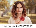Romantic Autumn Woman Model...