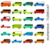 transport icons | Shutterstock .eps vector #713081167