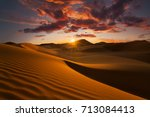 beautiful sand dunes in the... | Shutterstock . vector #713084413
