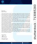 letterhead template | Shutterstock .eps vector #713085283