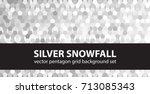 pentagon pattern set silver... | Shutterstock .eps vector #713085343