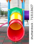 Small photo of Colorful plaything in a park