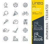lineo editable stroke   sports... | Shutterstock .eps vector #713116723