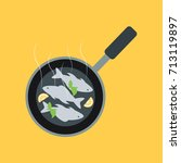 many fresh braised grilled... | Shutterstock .eps vector #713119897