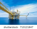 offshore oil and gas business ... | Shutterstock . vector #713121847