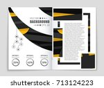 abstract vector layout... | Shutterstock .eps vector #713124223