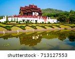 royal park rajaphruek ... | Shutterstock . vector #713127553