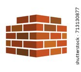 bricks icon. bricks logo.... | Shutterstock .eps vector #713130877