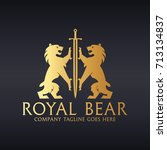 royal bear logo. easy to change ... | Shutterstock .eps vector #713134837