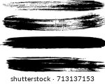 set of grunge brush strokes  | Shutterstock .eps vector #713137153