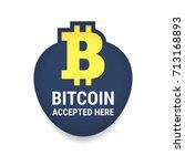 golden bitcoin digital currency ... | Shutterstock .eps vector #713168893