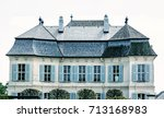 beautiful schloss niederweiden... | Shutterstock . vector #713168983