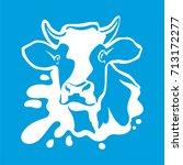 vector fresh milk logo. dairy... | Shutterstock .eps vector #713172277