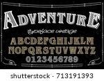 font serif typeface vector... | Shutterstock .eps vector #713191393