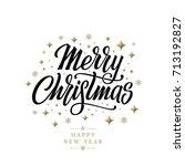 merry christmas vector text... | Shutterstock .eps vector #713192827