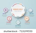 vector business infographic...   Shutterstock .eps vector #713199553
