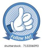 thumb up label  vector...   Shutterstock .eps vector #713206093