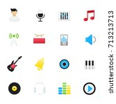 music icons. vector... | Shutterstock .eps vector #713213713