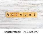 Small photo of Account word made with wooden blocks concept