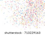 colorful explosion of confetti. ... | Shutterstock .eps vector #713229163