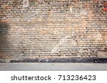 simple urban wall with a... | Shutterstock . vector #713236423