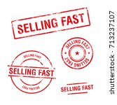 selling fast vector stamps set | Shutterstock .eps vector #713237107